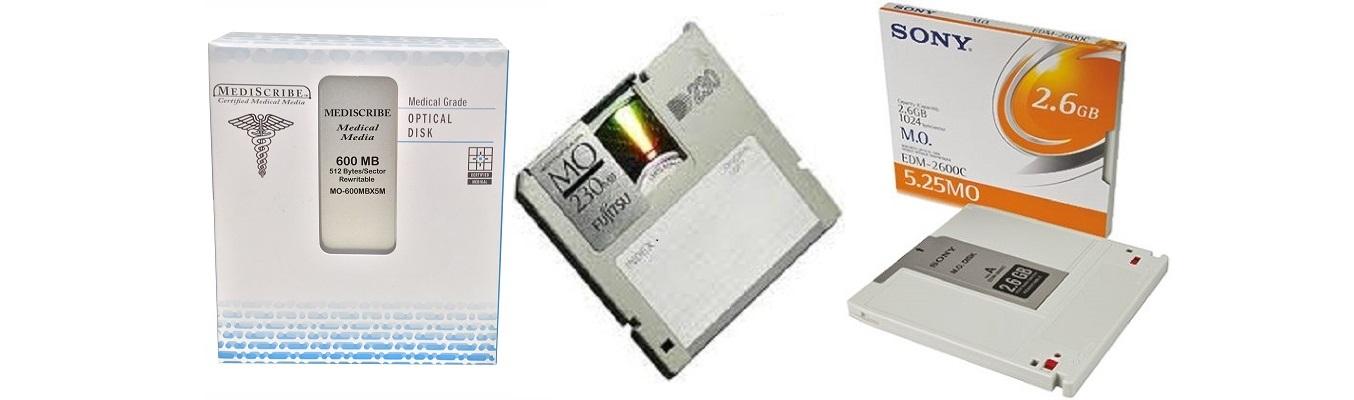 We transfer magneto-optical disks